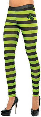 Rubie's Costume Co Women's Wizard Of Oz Wicked Witch Of The West Leggings, Black/Green, One (Tight Black Dress Halloween Costumes)