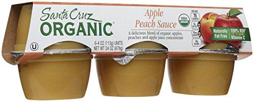 Santa Cruz Organic Apple Peach Sauce Cups, 6 ct
