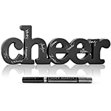 ChalkTalkSPORTS Cheer Wood Words | Shelf and Desk Décor | Wood Sign