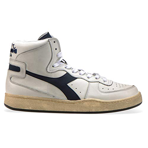 Donna White blue Sneakers Diadora C4656 Uomo Per Mi Heritage Denim Basket E Used wq8vC