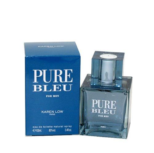 Karen Low Pure Blue Eau de Toilette Spray for Men, 3.4 Ounce