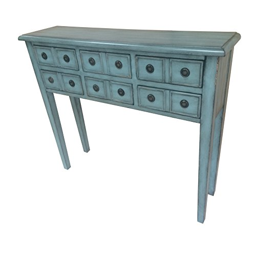 6 drawer accent console table - 3
