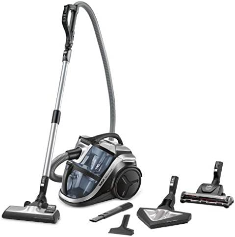 Tefal Silence Force MultCyclon Vacuum Cleaner, Grey - TW8356HA