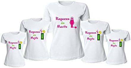 Altra Marca Pacchetto 9+1 T-Shirt Bianche Magliette Addio al Nubilato Ragazza da Marido o Mojito