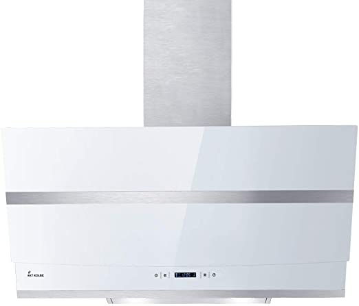 Campana extractora de pared (80cm, acero inoxidable, cristal blanco, WIFI, extra silenciosa, 605m³/h, 4 escalones, iluminación LED RGBW, teclas sensoriales TouchSelect) HERMES807WM - KKT KOLBE: Amazon.es: Hogar