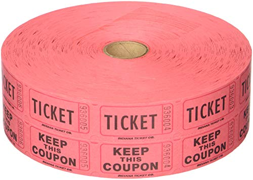 Best Raffle Tickets Red Double List