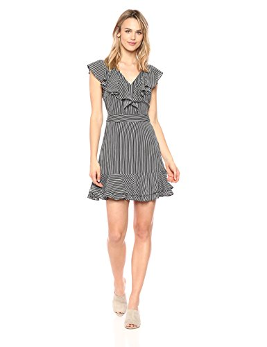 A Striped Layer Women's Neck J Black V O Dress Double Stripe qxwCn7B