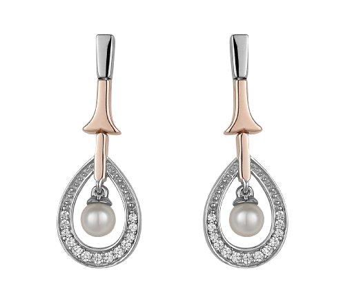 Orphelia - SET-5175 - Parure Collier et Boucles d'Oreille Femme - Argent 925/1000 - Oxyde de Zirconium - Perle d'eau douce