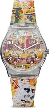 Ingersoll Mickey Mouse Men's IND 25822 Ingersoll Disney Cartoon Classic Print Analog Display Quartz Multi-Color Watch