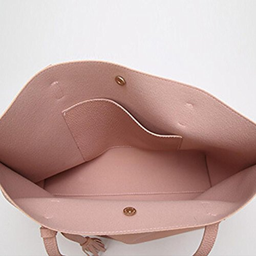 Women Bag Tassels Shopping Fashion Shoulder Handbag Leather Girls Fcostume Tote Pink Bag vI6ARw