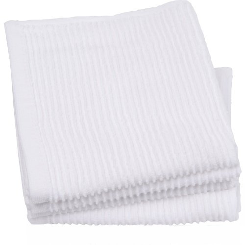 Now Designs Ripple Kitchen Dishcloth, Set of 4, White by Now Designs