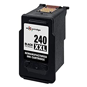 myCartridge Remanufactured Canon PG-240XL High Yield ink cartridge 5206B001 for use in PIXMA MG2120 MG2220 MG3120 MG3520 Series Printer