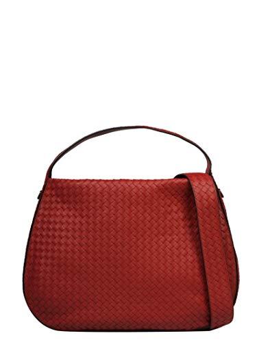 Bottega Veneta Women's 547225V00166423 Red Leather Shoulder Bag