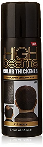 Value Beam - (VALUE PACK OF 3) HIGH BEAM COLOR THICKENER TEMPORARY SPRAY-ON HAIR 2.7oz #11 BLACK