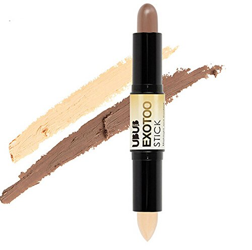LiboboDouble-Ended Contour Stick Makeup Creamy Highlighter Bronzer 01 Wine ()