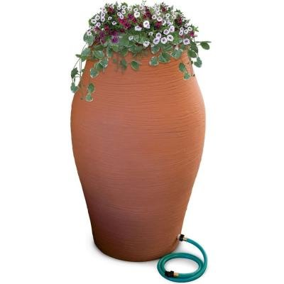 Rain Urn (85 Gallon Terra Cotta Water Urn Decorative Urn Rain Barrel Kit with Integrated Planter)
