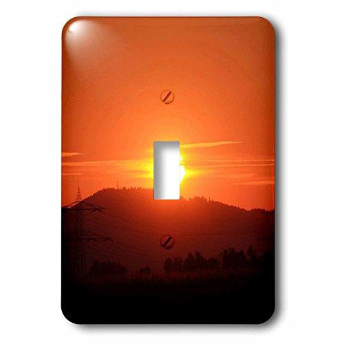 3dRose lsp_236686_1 Orange Wonderful Sunset Toggle Switch, Mixed by 3dRose
