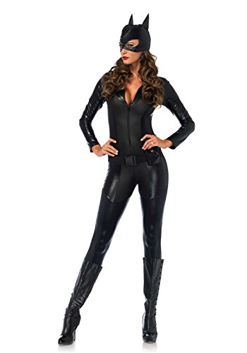 Leg Avenue Women's Sexy Crime Fighter Costume, Black, Medium -