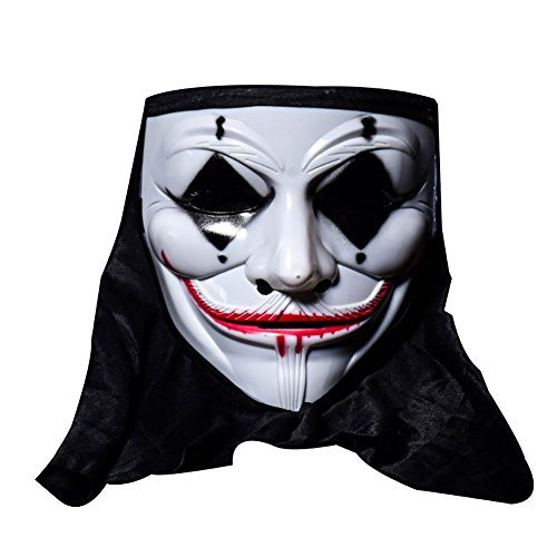 ThyWay Cosplay Mask Halloween Skull Vampire V Clown Mask Bar Dance Horror Scary Soul Hip-hop Male Adult