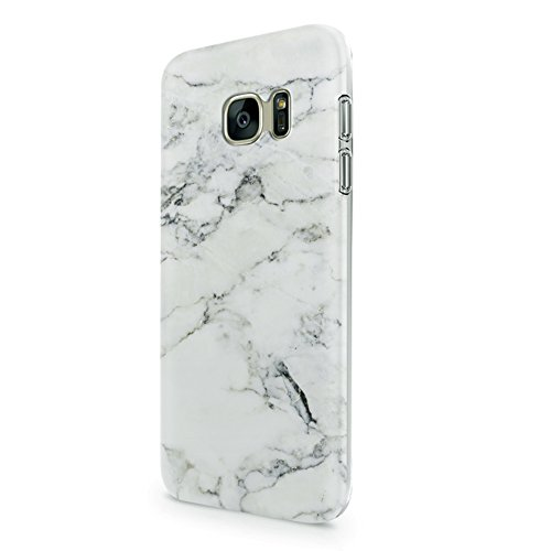White Marble Case for Samasung Galaxy S7 5.1 uCOLOR Dual-Layer Hard Back+Flexible TPU Protective Cover for Samsung Galaxy S7 with Slim Tempered Glass Screen Protector