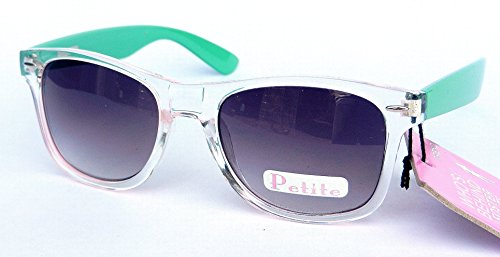 Foster Grant Womens Clear and Mint Green Frame Sunglasses (1269) 100% UVA & UVB + FREE BONUS MICROSUEDE CLEANING CLOTH