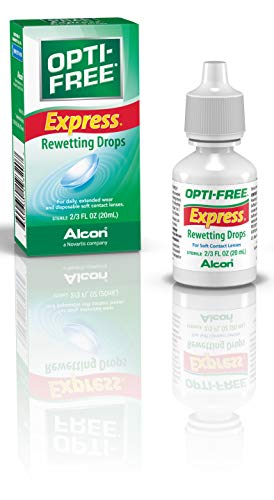 Lens Drops Rewetting (Opti-Free Express Rewetting Drops, 20-mL)
