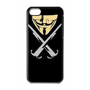 GGMMXO V for Vendetta Phone Case For Iphone 5C [Pattern-3]