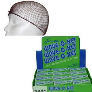 Wave-O-Net Medium Weight Hairnets--Brown Packed 24 per display,1 Display of 24 Nets