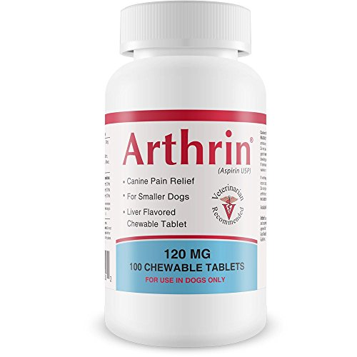 HealthyPets Arthrin Canine Aspirin 120 mg for Smaller Dogs (100 Chewable Tablets)