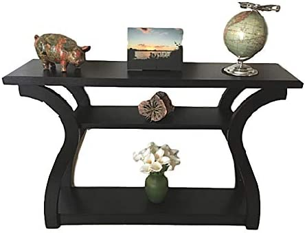 46 Console Table Hall Tables for Entryway Narrow Curved Foyer Sofa XL Foyer Accent Side Big 3-Tiered Storage ebook