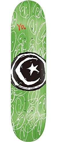 軌道ファーザーファージュ国旗FOUNDATION(ファンデーション) スケートボード デッキ STAR & MOON YO L.GREEN D9110lgr (7.75 x 31.625)