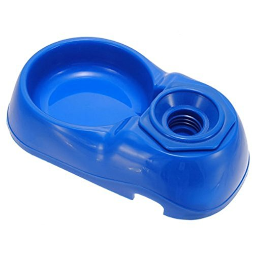 Buwico Pet Drinking Water Bowl Automatic Vertical Base Plate Water Dispenser for Dog Cat Pet Supplies 400ML chic