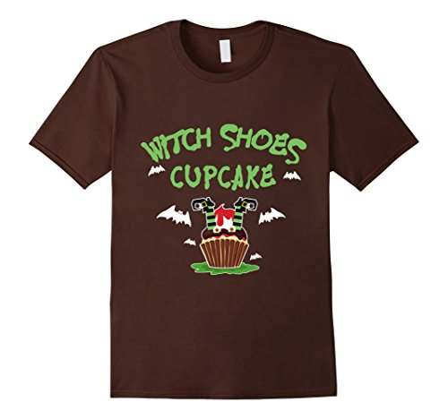 Mens Witch Shoes Cupcake T-shirt Halloween Witch Costume 2XL Brown