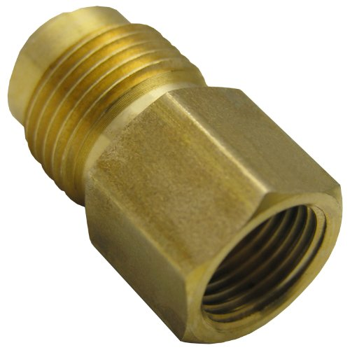 LASCO 17-5833 3/8-Inch Female Flare by 1/2-Inch Male Flare Brass Adapter by LASCO