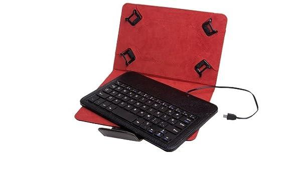 Funda Universal + Teclado con Cable Phoenix para Tablet/EBOOK 7-8 ...