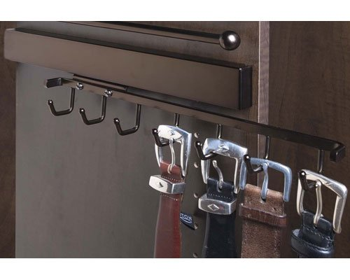Oil Rubbed Bronze Deluxe Sliding Belt Rack