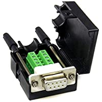 DB9 D-SUB RS232 VGA Adapter 9 Pin signals Terminal Breakout Plastic Cover 2 Row (Female with screw)