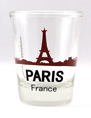 Paris France Eiffel Tower Sunset View Shot Glass