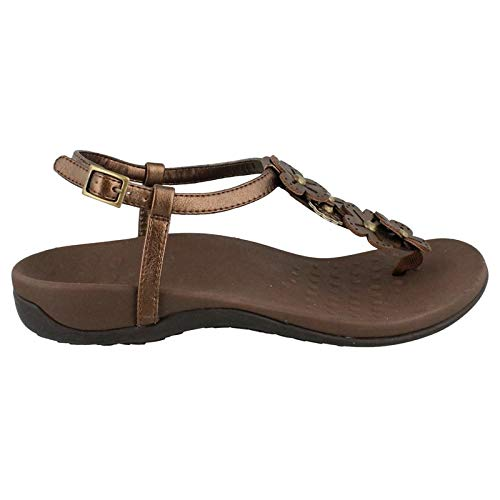 (Vionic with Orthaheel Technology Womens Julie II Sandal Bronze Size 8)