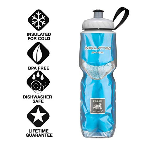 Polar Bottle Insulated Water Bottle (24-Ounce) (Blue)