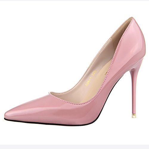 Dress Work Pink Pumps Toe Women's Simple Pointed Shoes HooH wzT1qT