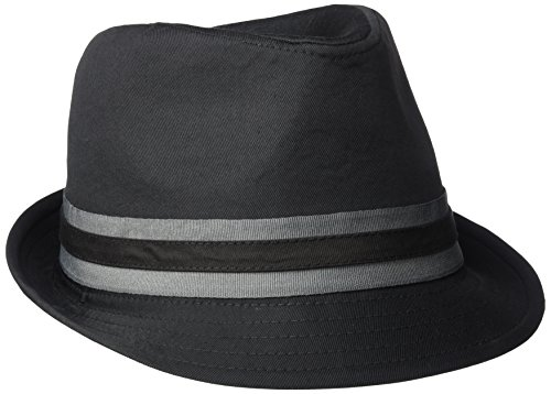 - U.S. Polo Assn. Men's Twill Fedora with Two Color Grosgrain, Black, L/XL