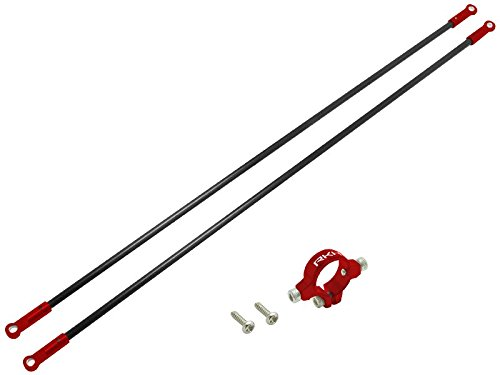 Rakon Blade 230S CNC AL Tail Boom Support Set (Red) - (Tail Boom Support)