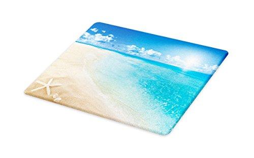 Beach Themed Dinnerware - Ambesonne Beach Cutting Board, Sunny Summer