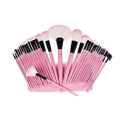 Juego De 32 Pinceles, Brochas Y Aplicadores De Maquillaje - Delineadores Profesionales ()