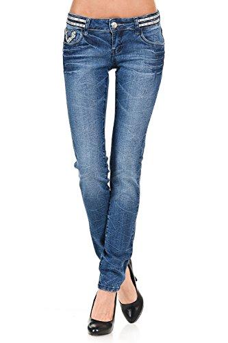 Arizona Carpenter Shorts (VIRGIN ONLY Women's Embellished Faded Skinny Jeans-26-Denim)