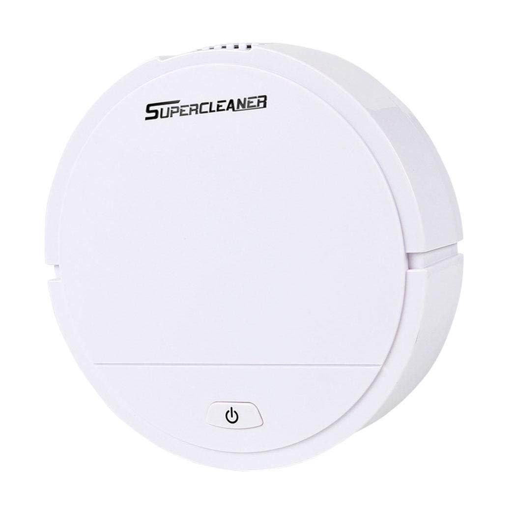Robot Vacuum Cleaner Sweeping and Mopping Robotic Vacuum Cleaning Dust and Pet Hair, Strong Suction Route Planning on Hard Floor, Carpet and All Floor Types (White)