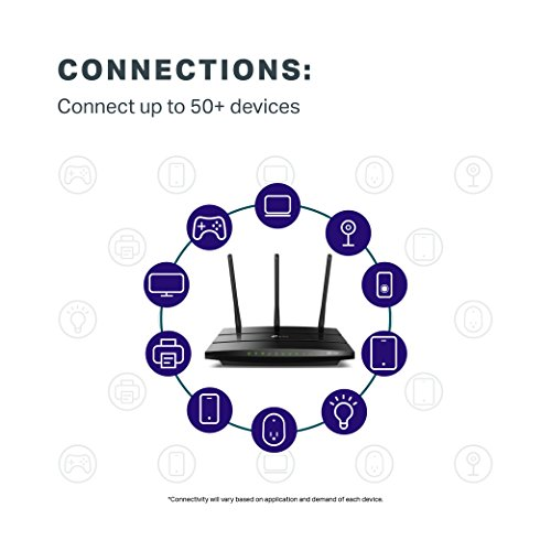 TP-Link AC1750 Smart WiFi Router - Dual Band Gigabit Wireless Internet Routers for Home, Works with Alexa, Parental Control&QoS(Archer A7) by TP-LINK (Image #3)