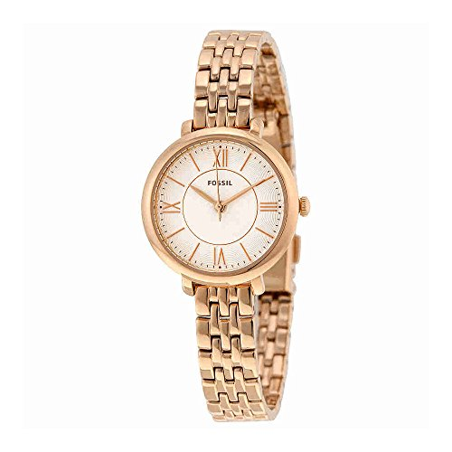 Bracelet Fossil Steel Womens Stainless (Fossil Women's ES3799 Jacqueline Rose Gold-Tone Stainless Steel Watch with Link Bracelet)