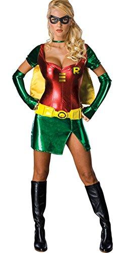 Ace Halloween Adult Women's Sexy Superwoman Robin Costumes (Superwoman Halloween Costumes)